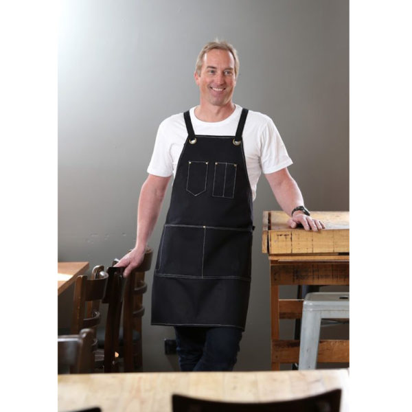 PSC Trading - KSD Waxed Canvas Heavy Duty Tool Apron Copppin Black
