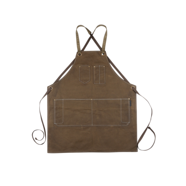 PSC Trading - KSD Waxed Canvas Heavy Duty Tool Apron Copppin Brown Back