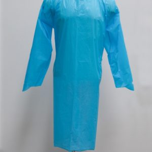 PE Disposable Isolation Gown Full